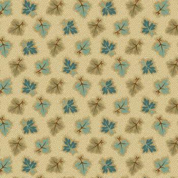 A-8722-NT Brown Teal - Oak Leaves