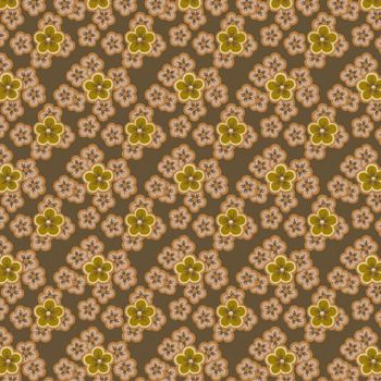 A-8723-N Brown - Flower Patches