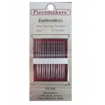 Piecemakers Embroidery Needles Size 7