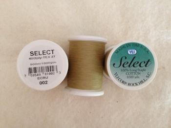 Select Cotton Thread 2-ply 40wt T-27 1000yds Ecru
