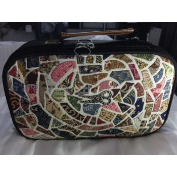 Mosaic Applique Sewing Case